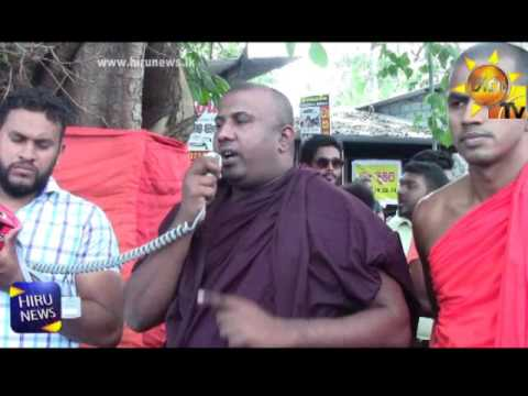 Protest against the removal of Bo tree from Pannipitiya