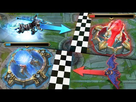 THE ULTIMATE 'BASE RACE' MONTAGE - Who Will Win? | League of Legends