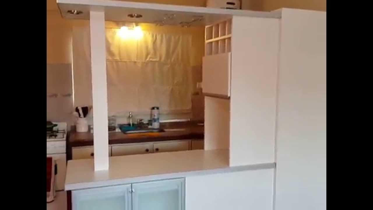 Desayunador cubre heladera remodela tu cocina en capital for Manijas para puertas de vidrio