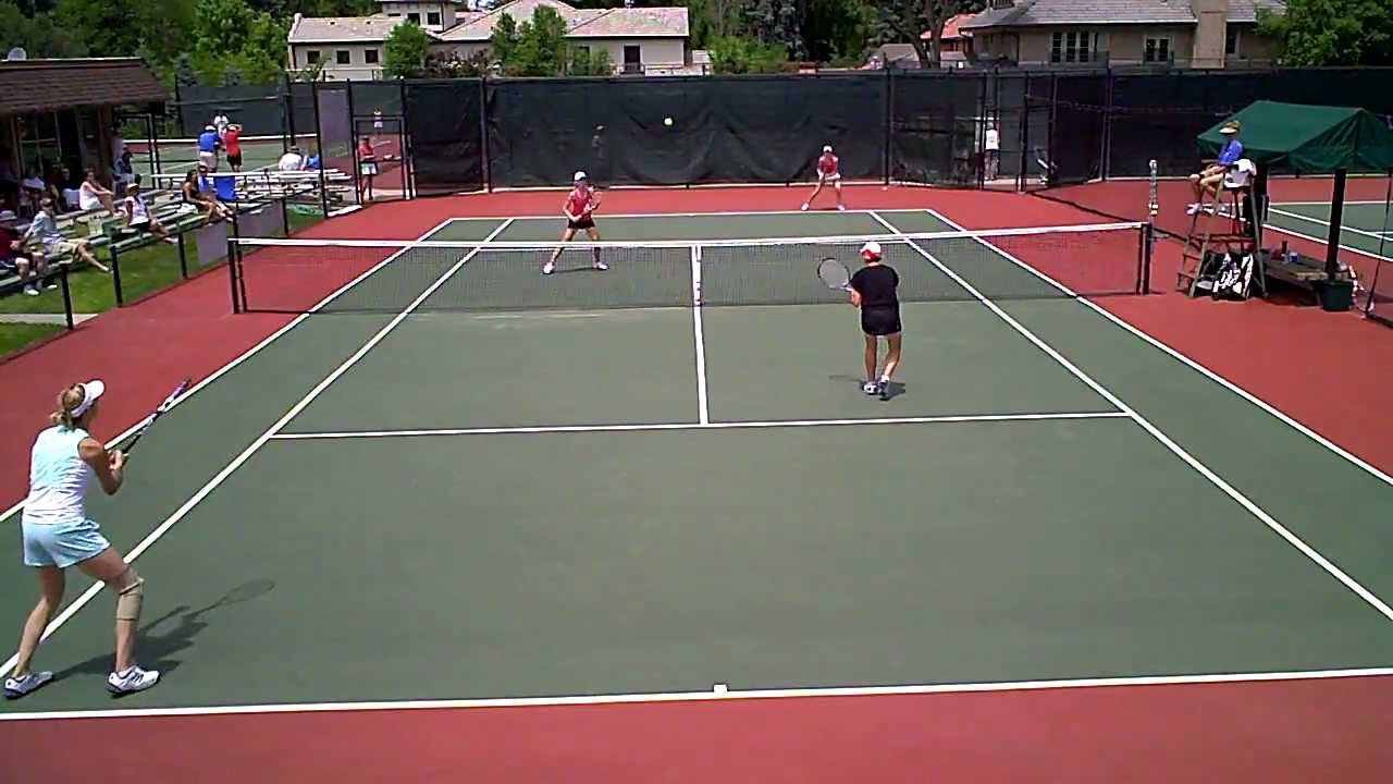 Tennis Camera Mount - Highlights of Women's Doubles Finals at Denver City Open 2010