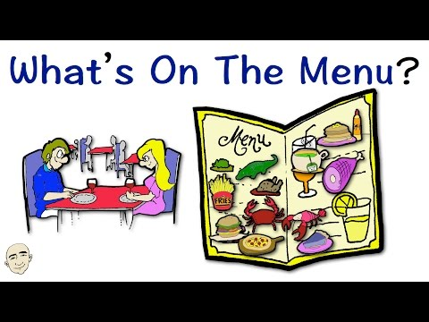 Whats On The Menu? | Easy English Conversation Practice | ESL/EFL