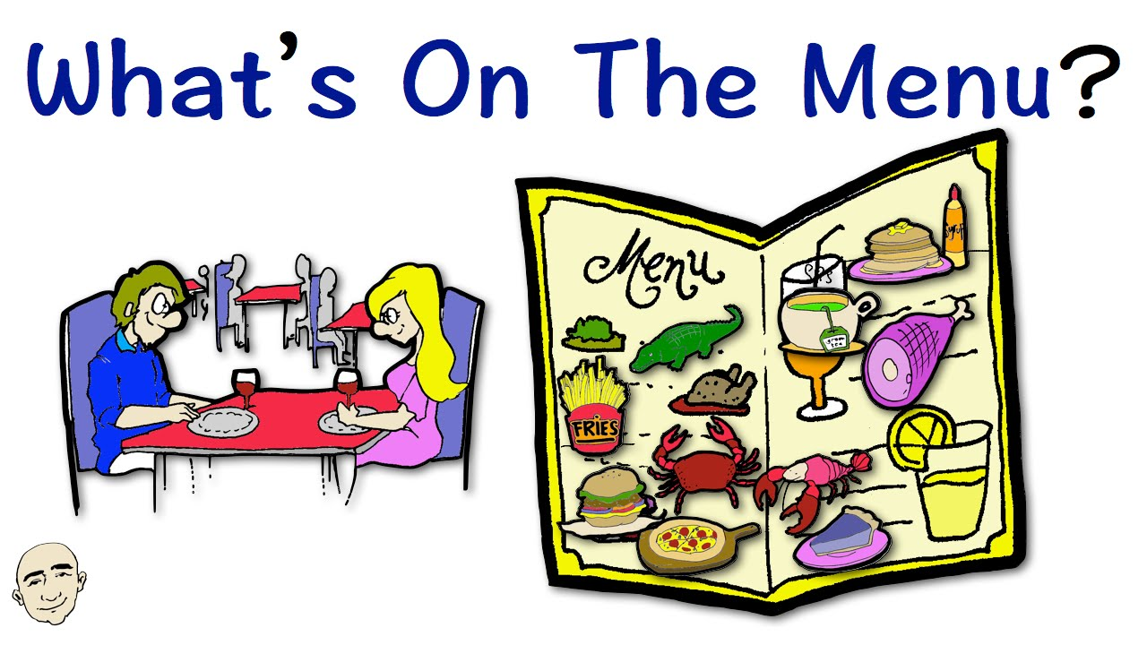 Whats on the menu easy english conversation practice eslefl whats on the menu easy english conversation practice eslefl youtube sciox Images