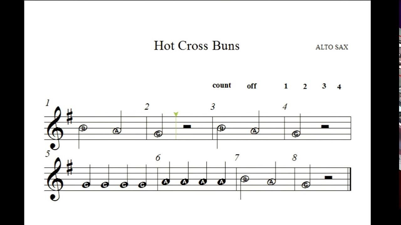 Hvb Alto Sax Hot Cross Buns