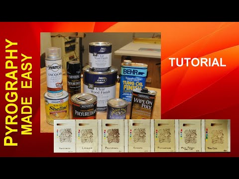 Wood Finishes for Pyrography Art - Types and When To Use