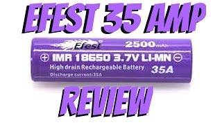 PURPLE EFEST 35A BATTERY REVIEW