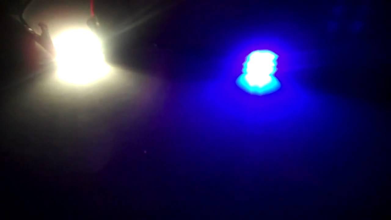 """Halogen Light Vs Led >> LEDbulbz : OEM halogen bulb VS. """"UV-PURPLE"""" 6 SMT-LED Bulb review...Black-Light in your car ..."""