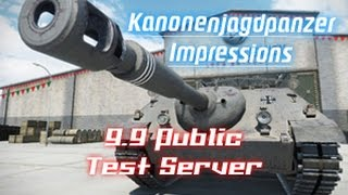 9.9 Test Server - Kanonenjagdpanzer Impressions || World of Tanks