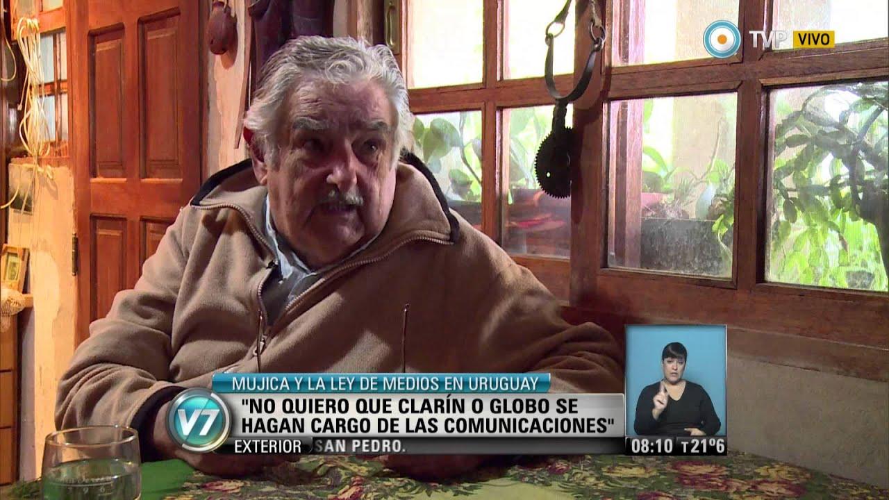 Visión 7 - Mujica y la Ley de Medios en Uruguay - YouTube