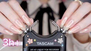 ASMR TASCAM Best Triggers for Sleep 3Hr / 最高の睡眠へ誘う TASCAM 最強トリガー (No Talking)