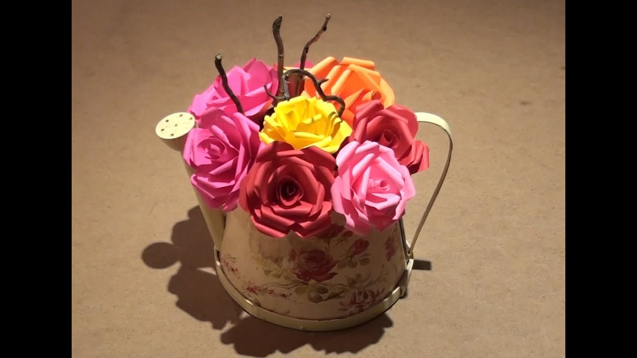 How to make easy paper flower rose youtube how to make easy paper flower rose mightylinksfo