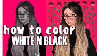♥ Как я крашу чёрно-белые портреты ♥ Покрас в Krita ♥