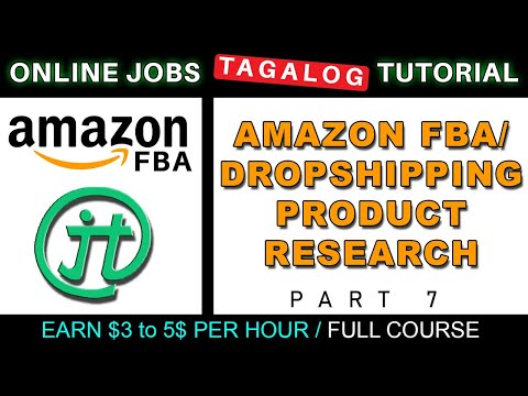 Amazon FBA/Dropshipping Product Research Tutorial Online Jobs at Home Philippines Tagalog thumbnail
