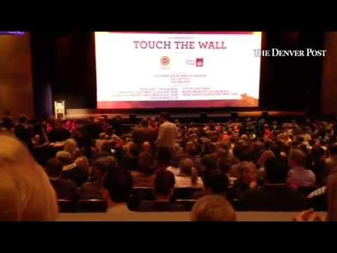 "#SDFF37 world premiere of ""Touch the Wall,"" starring Olympians Missy Franklin and Kara Lynn Joyce. @"