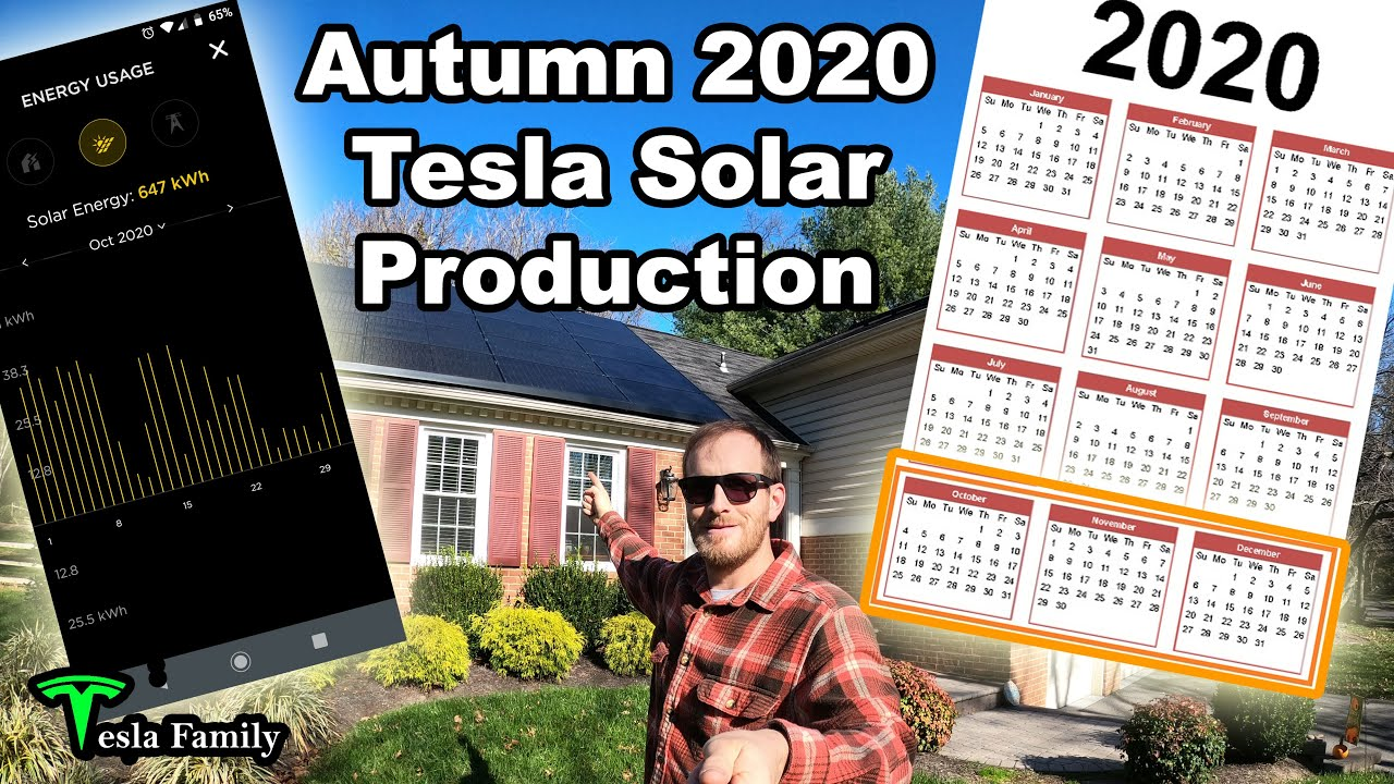 Autumn 2020 Tesla Solar Panel Production