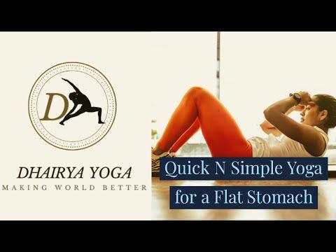 #yogastudio #yogaforweightloss || Quick N Easy Yoga for a flat stomach…
