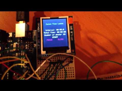 Arduino based interval timer for Canon DSLR