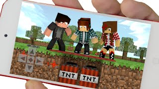 Minecraft PE :  O TAPETE FALSO ( Minecraft Pocket Edition)