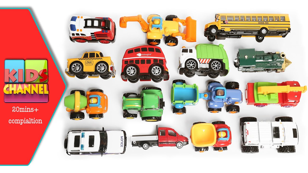 toy cars and trucks. Learning Street Vehicles Names And Sounds For Kids With Toy Cars Trucks - YouTube S