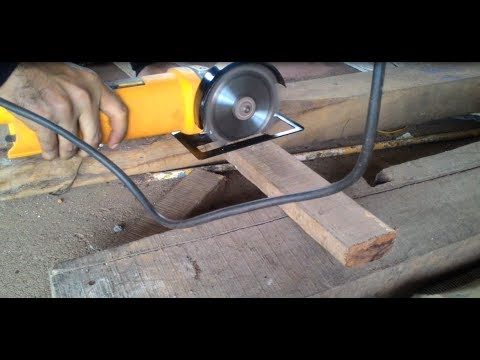 Angle grinder as a wood cutter
