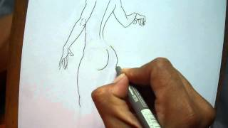 how to draw a sexy girl step by step tutorial, como dibujar una chica sexy paso a paso