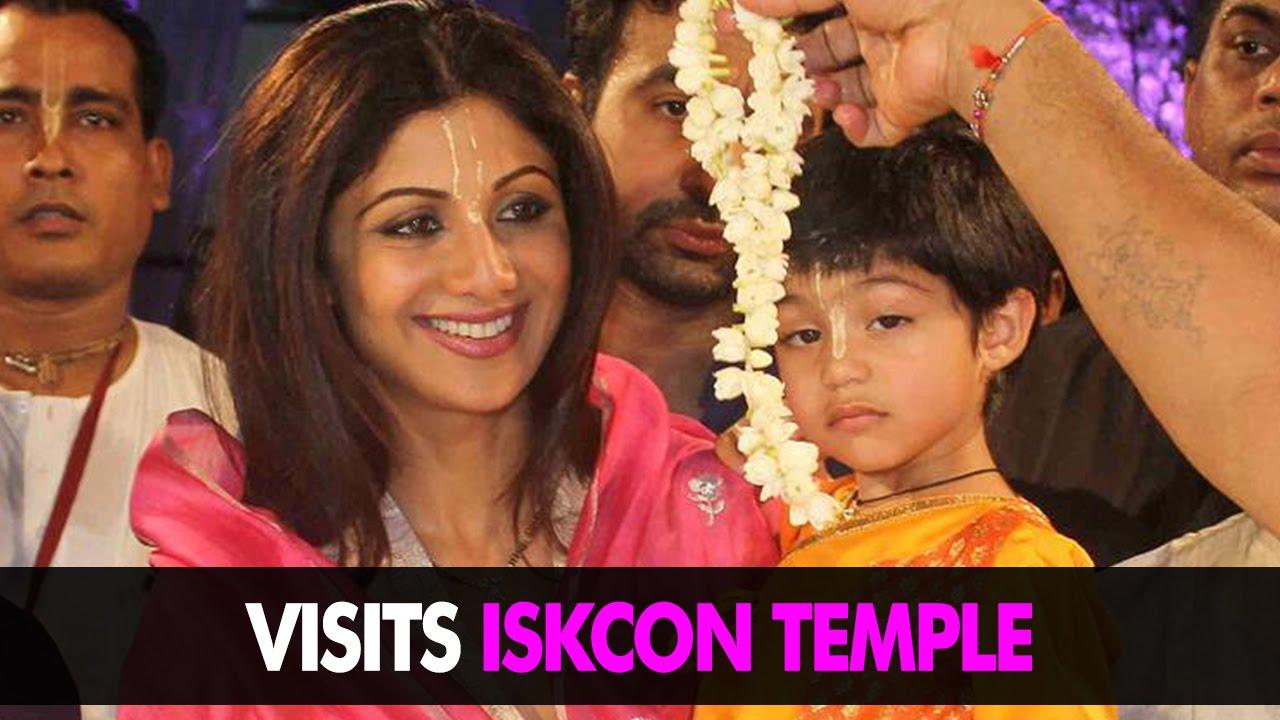 Latest Bollywood News | Shilpa Shetty Visits Iskcon Temple With Son Viaan | Bollywood Gossip 2015