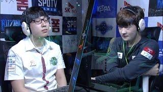 [SK 텔레콤 프로리그2016] 2R 결승전 조성호(진에어) vs 김대엽(KT) 1세트 -EsportsTV, 스타크래프트 2