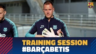 Second training session to prepare the match against Betis