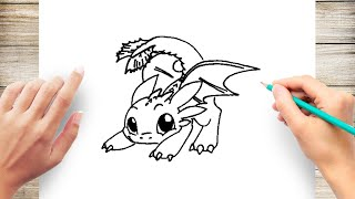 How to Draw Toothless Step by Step for Beginer