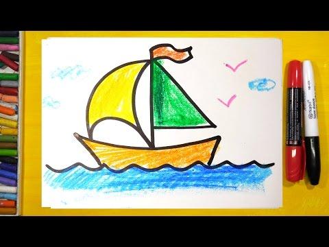 Как нарисовать кораблик карандашом поэтапно для детей
