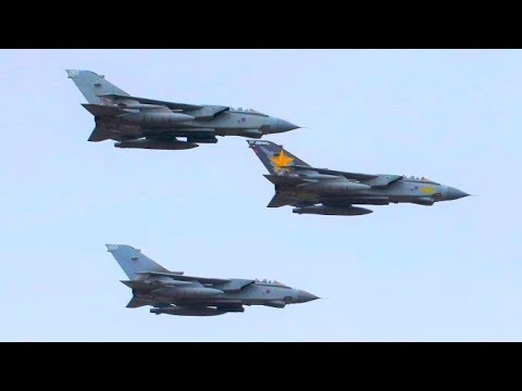 Farewell to the RAF Tornado flypast, (HD) RAF Cosford, UK 19/2/19