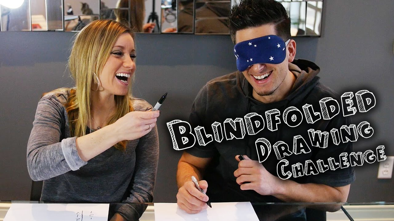Blindfolded Drawing Challenge Youtube