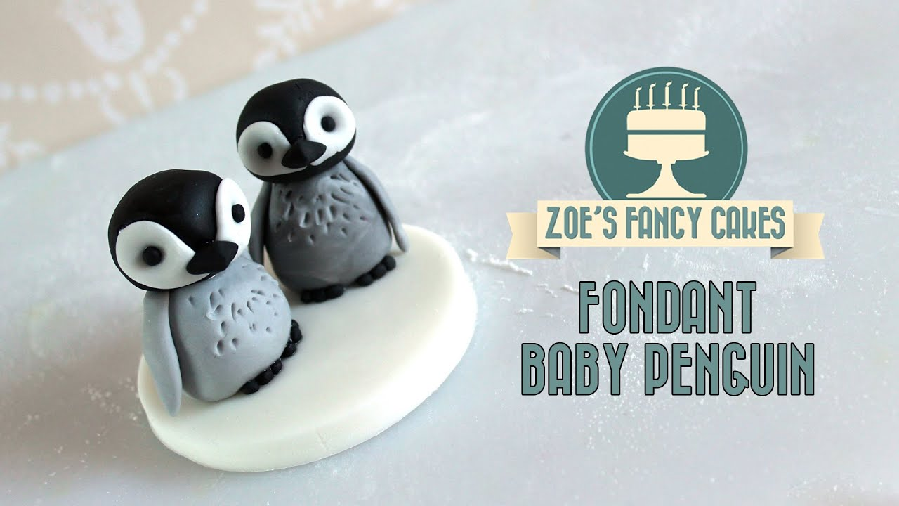 How to make fondant feathers youtube - Fondant Baby Penguin Cake Topper Cake Decorating Tutorial How To Make Youtube