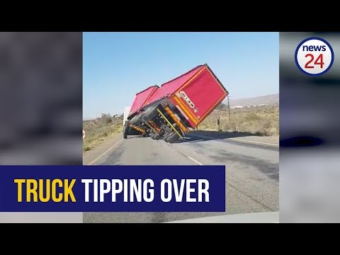 WATCH: Strong winds whip Western Cape, blow truck over