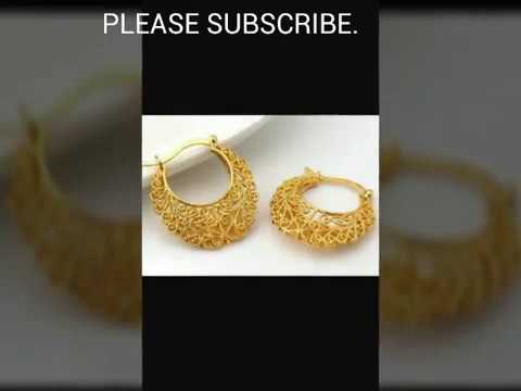 LATEST GOLD EARRINGS DESIGNS 2017
