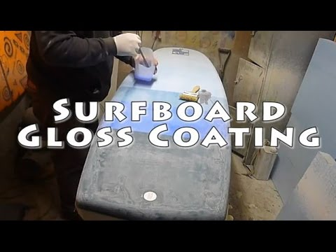XPS Surfboard shaping - Glossing with Epoxy - Mini Simmons