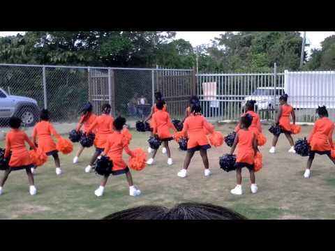 Stars performing at Enis Adams Primary School Cheerleading Competition
