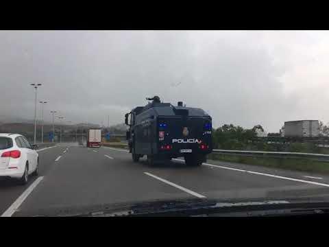 Tanqueta antidisturbis Policia Nacional espanyola