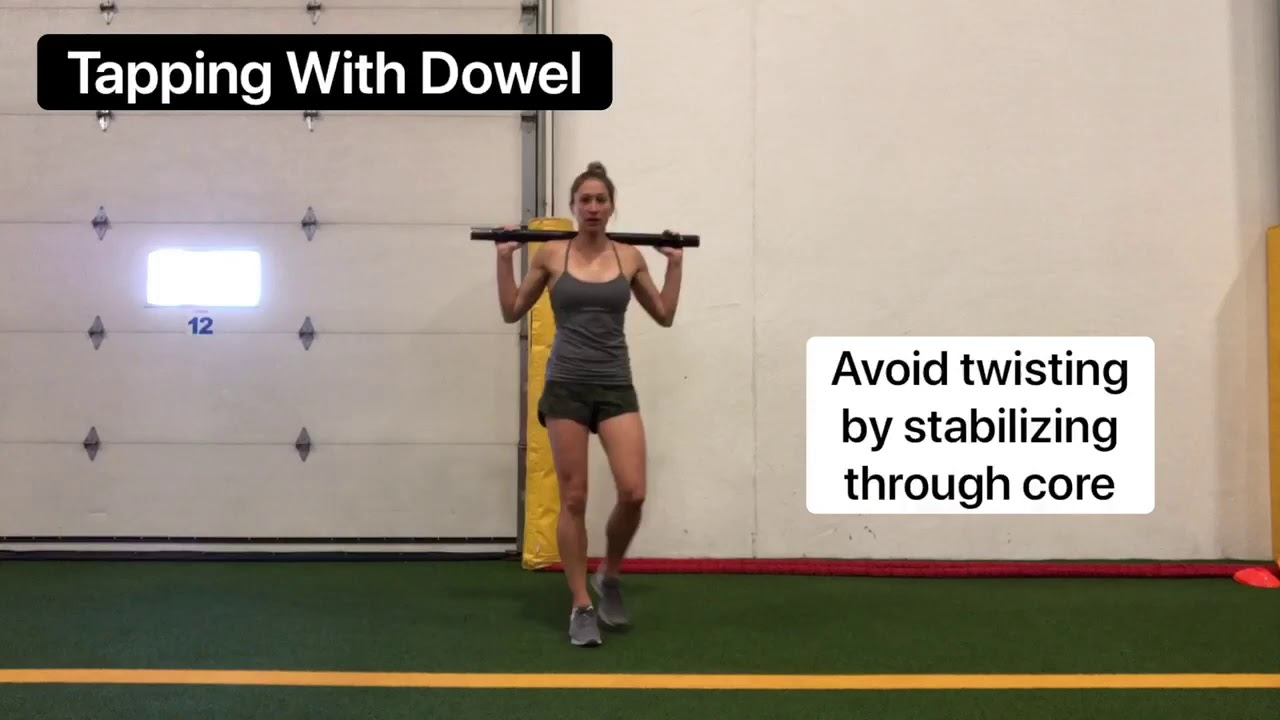 Exercise of the week - Tap drill with dowel