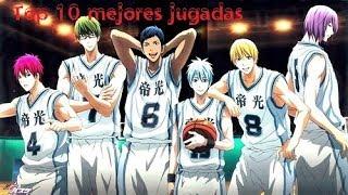 Top 10 mejores jugadas Kuroko no Basket