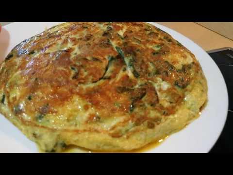Tortilla de espinacas rellena