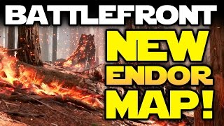Star Wars Battlefront: NEW FREE MAP! SURVIVORS OF ENDOR! March Update DLC Gameplay