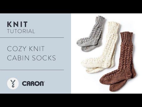 Knit: Cozy Knit Cabin Socks
