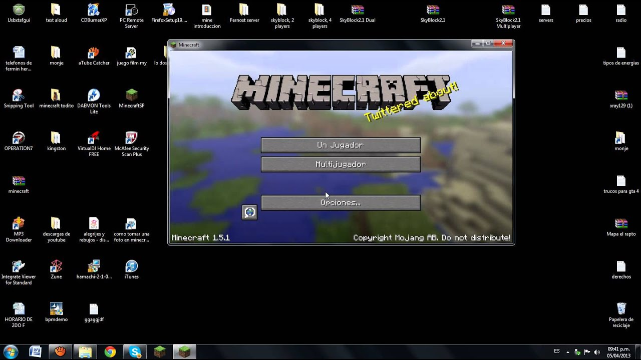 descargar minecraft 1.8 para pc portable