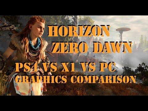 Horizon Zero Dawn | PS4 vs PC vs Xbox one | Graphics ...