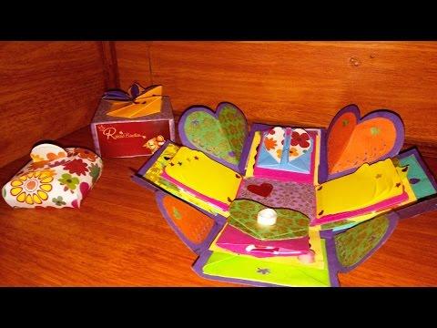 Explosion box / Exploding box / Raksha Bandhan Gift / Falling card / Handmade box