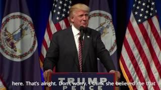 Trump Kicks Baby Out of Virginia Rally