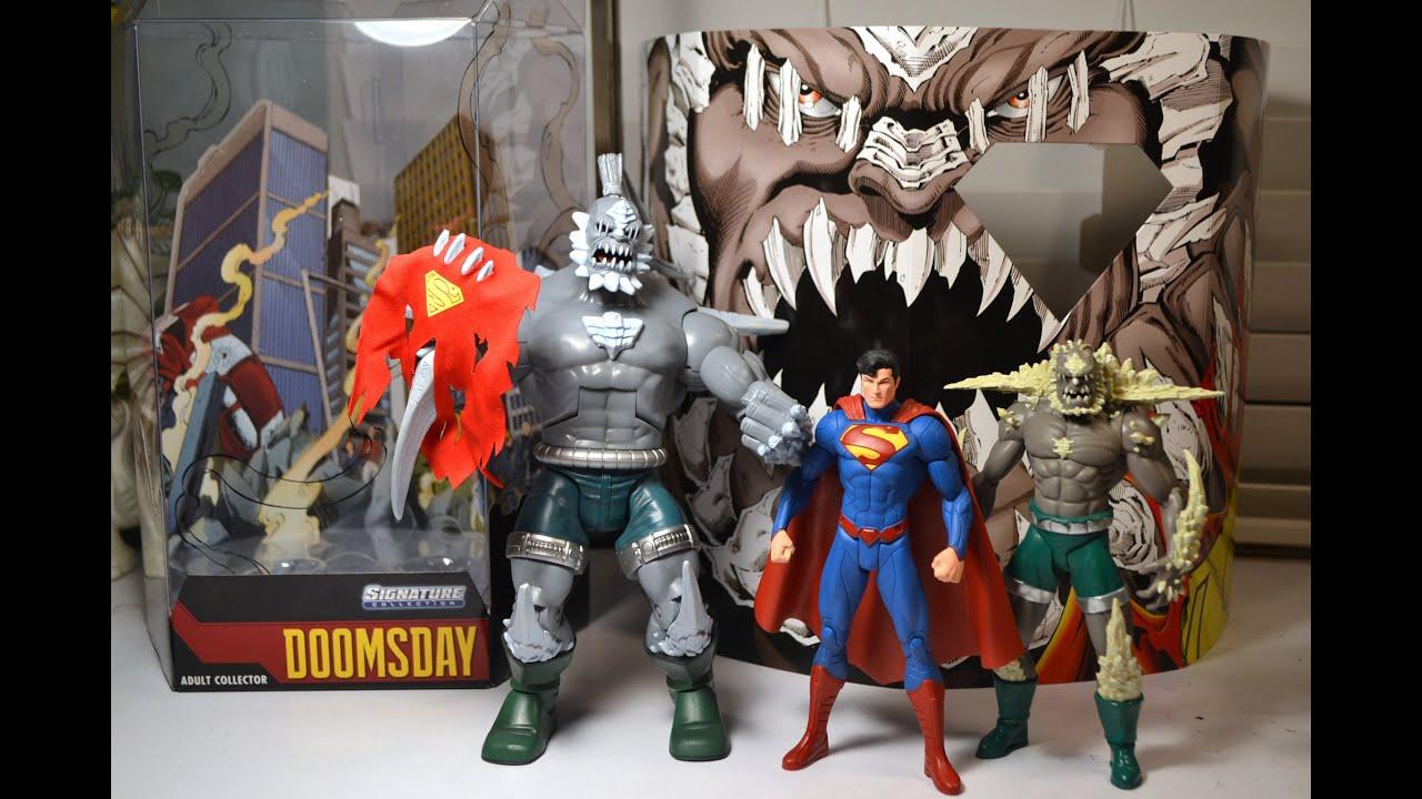 Mattel Signature Collection Doomsday Figure Review Comparison Dc Universe Superman Youtube