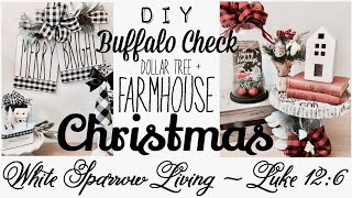 3 DOLLAR TREE DIY BUFFALO CHECK FARMHOUSE CHRISTMAS DECOR PROJECTS
