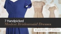 7 Handpicked Modest Bridesmaid Dresses Amazon Winter 2017  Collection