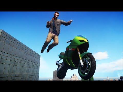 GTA IV Motorcycle Ragdolls Compilation